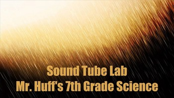 Sound Activity - Sound Tube - Frequency, High and Low Pres