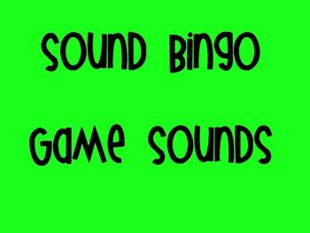 Sound Bingo Game Sounds File