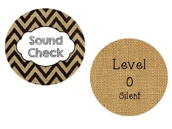 Sound Check Classroom Voice Modulation Visuals Burlap Chev