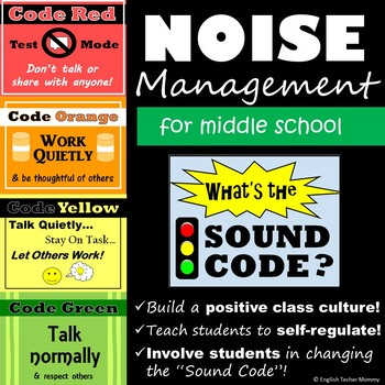 Noise Level Posters for Middle School