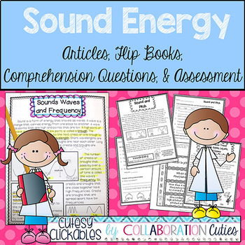 Sound Energy Articles, Flip Books, Comprehension Questions