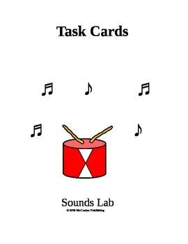 Sound Lab Task Card 3rd Grade Science