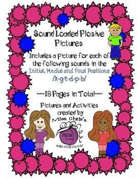 Sound Loaded Pictures for Articulation {6 Plosive Sounds}