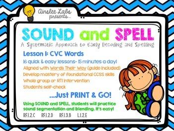 Sound + Spell: Lesson 1 Set CVC Words