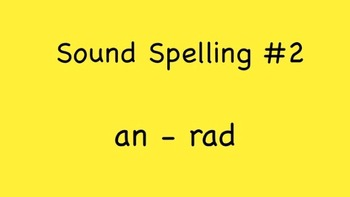 Sound Spelling #2 (an - rad) 30 Words - Reading with Phoni