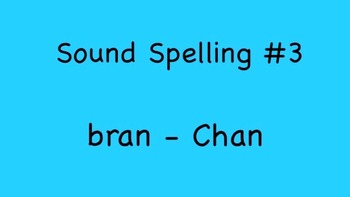 Sound Spelling #3 (bran - Chan) 30 Words - Reading with Ph