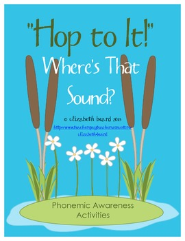 Sound Strips: Where's that Sound?  Beginning, Middle, and