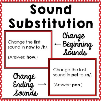 Sound Substitution ~ Changing Initial and Final Sounds
