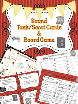 Sound Task / Scoot Cards & Game board