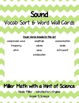 Sound Vocab Sort and Word Wall Cards