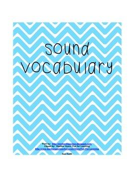 Sound Vocabuary Book-Science Vocabulary