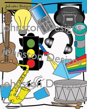 Sound Waves and Light Clipart