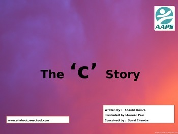 """Preschool Sound book of """"c""""   a story on phonetic."""