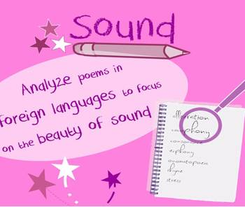 Sound in poetry lesson-isolate artful sounds using foreign