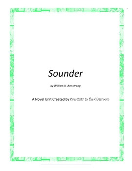 Sounder Novel Unit Plus Grammar