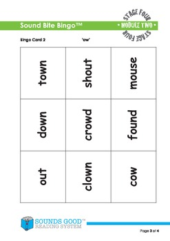 Sounds Good Reading - Stage 4 Activity - Module 2 'ow' (So