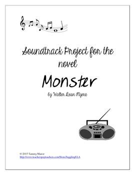 Soundtrack Project for the novel Monster by Walter Dean Myers