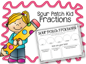 Sour Patch Fractions! Math Center. Fun Math!! Sour Patch Kids!