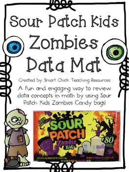 Sour Patch Zombie Kids Candy Data Mat Activity ~ Great for