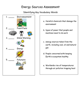 Sources of Energy Assessment (Renewable and Nonrenewable r