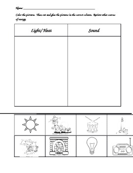 Heat And Light Worksheets on Natural And Artificial Sources Of Light Worksheet
