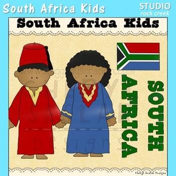 South Africa Kids Color Clip Art C. Seslar