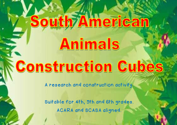 South America Animals Construction Cubes