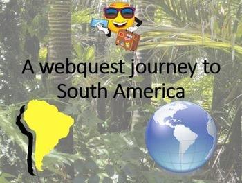 South America Culture Webquest