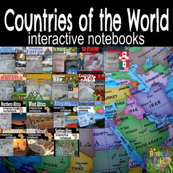 Countries of the World Interactive Notebook GROWING Bundle