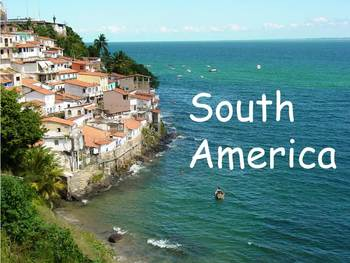 """South America Nonfiction PowerPoint """"Book"""" for First or Se"""