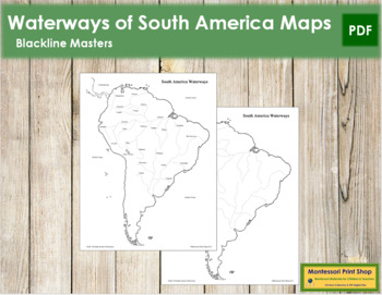 South America Waterways Map