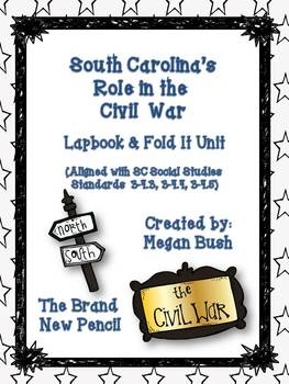 South Carolina: Civil War Lapbook Unit and Mini Book