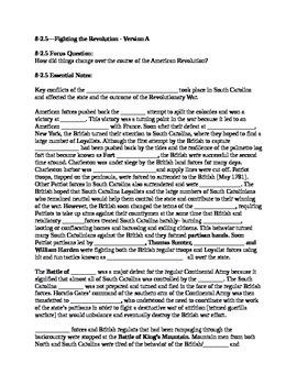 South Carolina History - Partner Read - 8-2.5