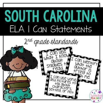 South Carolina I can statements for 2nd grade ELA