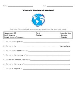 South Carolina Map Skills Quiz
