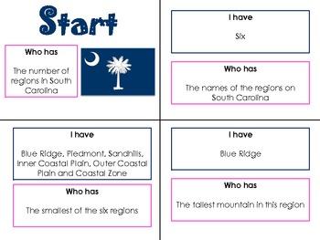 South Carolina Regions I Have, Who Has