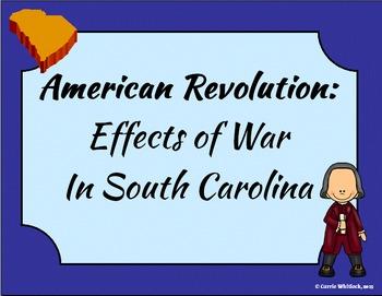 South Carolina - Revolutionary War: Effects in South Carol