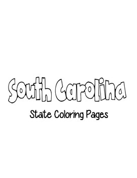 South Carolina State Coloring Pages