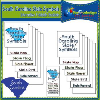 South Carolina State Symbols Interactive Foldable Booklets
