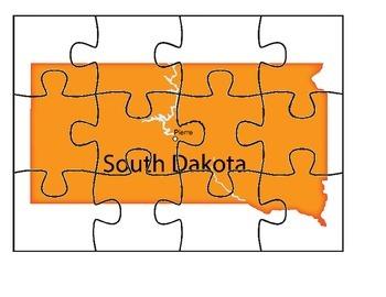 South Dakota Map Puzzle