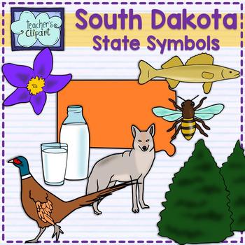 South Dakota state symbols clipart
