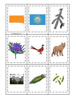 South Dakota themed Memory Matching and Word Matching pres