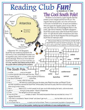 South Pole Crossword Puzzle