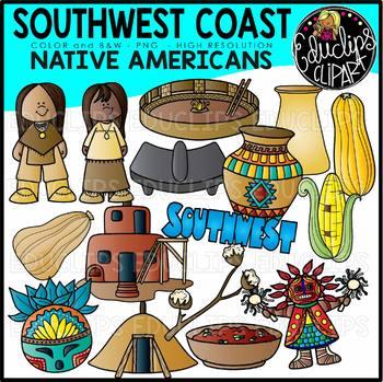 South West Native Americans Clip Art Bundle {Educlips Clipart}
