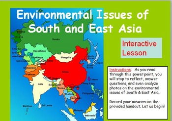 South and East Asia Environmental Issues: Interactive PPT