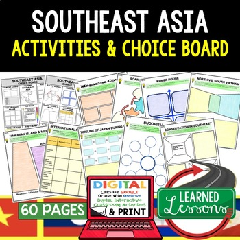 Southeast Asia Choice Board Activities (Paper and Google)