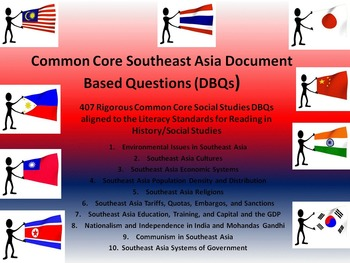Southeast Asia Document Based Questions - 407 DBQs and 10