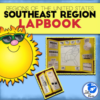 Southeast Region of the United States Lapbook or Interacti