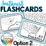 Southeast States Flashcards, States, Capitals, Abbreviatio
