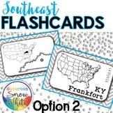 Southeast States Flashcards, States, Capitals, Abbreviatio